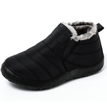 Winter Men Shoes For Men Boots Thick Fur Warm Ankle Boots For Men Footwear Waterproof