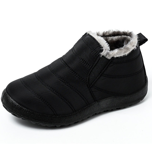 Winter Men Shoes For Men Boots Thick Fur Warm Ankle Boots For Men Footwear Waterproof Snow Boots Botas Hombre Shoes Man Unisex