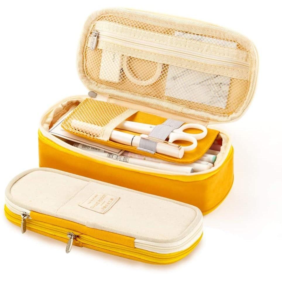 Чехол для карандашей Angoo [C-Block], Классический складной холщовый органайзер для хранения канцелярских принадлежностей, для путешествий и студентов, A6449 1