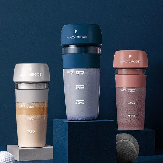 2019 New MACAIIROOS Portable Juicer Cup Mini Electric Juice Maker 300ml Juice Milkshake Smoothie Blender Mixer