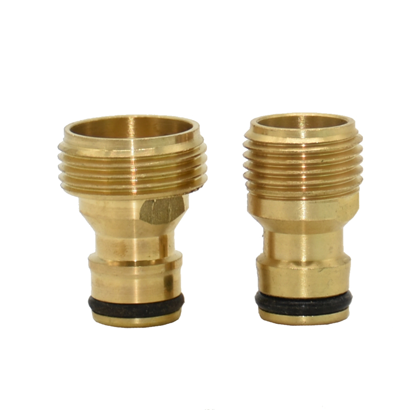 "Male 1/2"" 3/4"" Quick Connector Brass Nipple Faucet Water Gun Adapter Garden Tap Connector Adapter 1pcs"