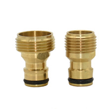 Nipple-Faucet Adapter Garden-Tap-Connector Brass Male 1/2-3/4-1pcs