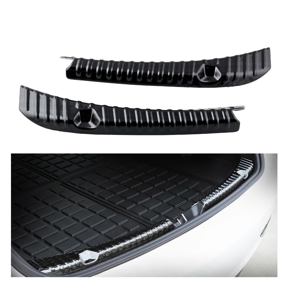 Автомобильная Задняя Крышка багажника, бампер, защита, Накладка на порог, внутренняя внешняя пластина, аксессуары из нержавеющей стали для Tesla модель 3