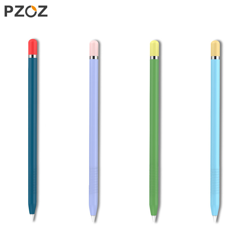 PZOZ For Apple Pencil 1 2 Case Cover Universal Colorful For IPad Pencil Case Non-slip Protection Silicone