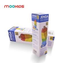 Детские развивающие дженга игрушки 54 шт деревянные большие красочные блоки Строительные Jenga пазлы, настольная игра