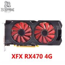 XFX видеокарта RX 470 4 Гб 7000 МГц GDDR5 Графика карты для AMD RX 400 серии VGA RX 470 DisplayPort 570 580 RX470-4GB HDMI б/у
