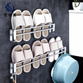 Поколение Fat-Free перфорированных тапочек для ванной подставка для подвешивания на стену клейкая Туалетная Ванная комната для хранения воды ...