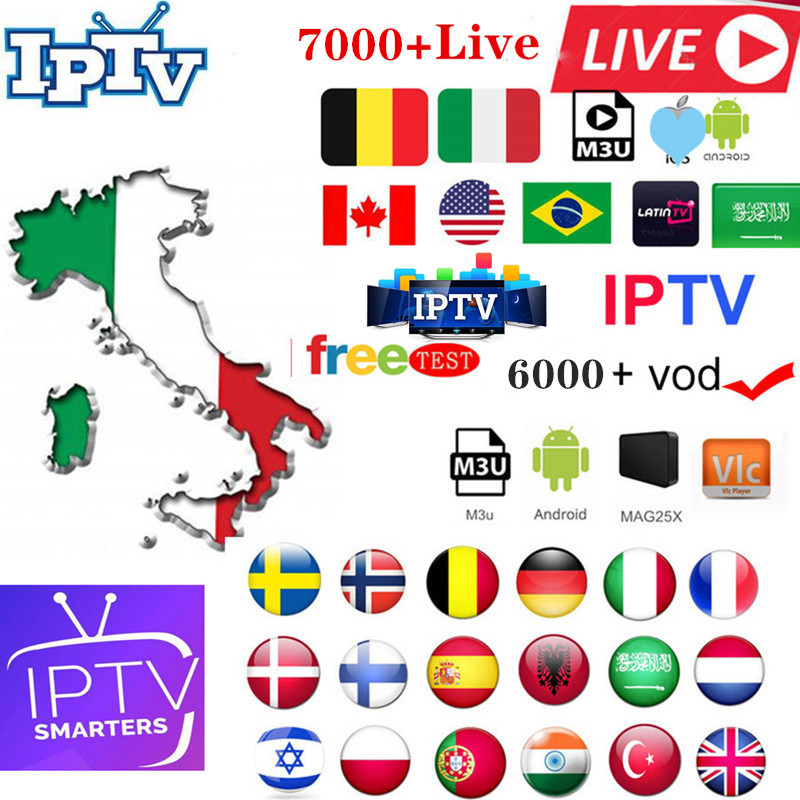 Italy IPTV Europe Arabic Sweden Norway Netherland Germany Spain Turkey UK USA Canada H.265 HD M3u Android Enigmas2 Ssmart Tv