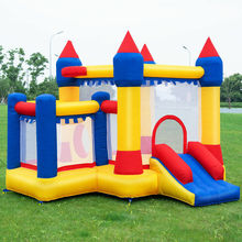 цена на Inflatable Bounce House Castle Kids Jumper Slide Moonwalk Bouncer without Blower