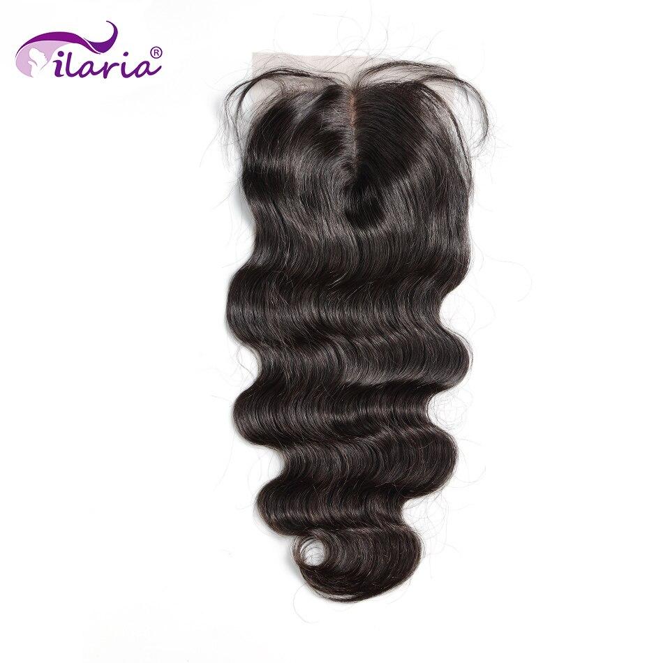 Бразильские неповрежденные волосы ILARIA 5x5, кружевная застежка с детскими волосами, волнистые человеческие волосы 4x4, верхняя застежка, швейц...