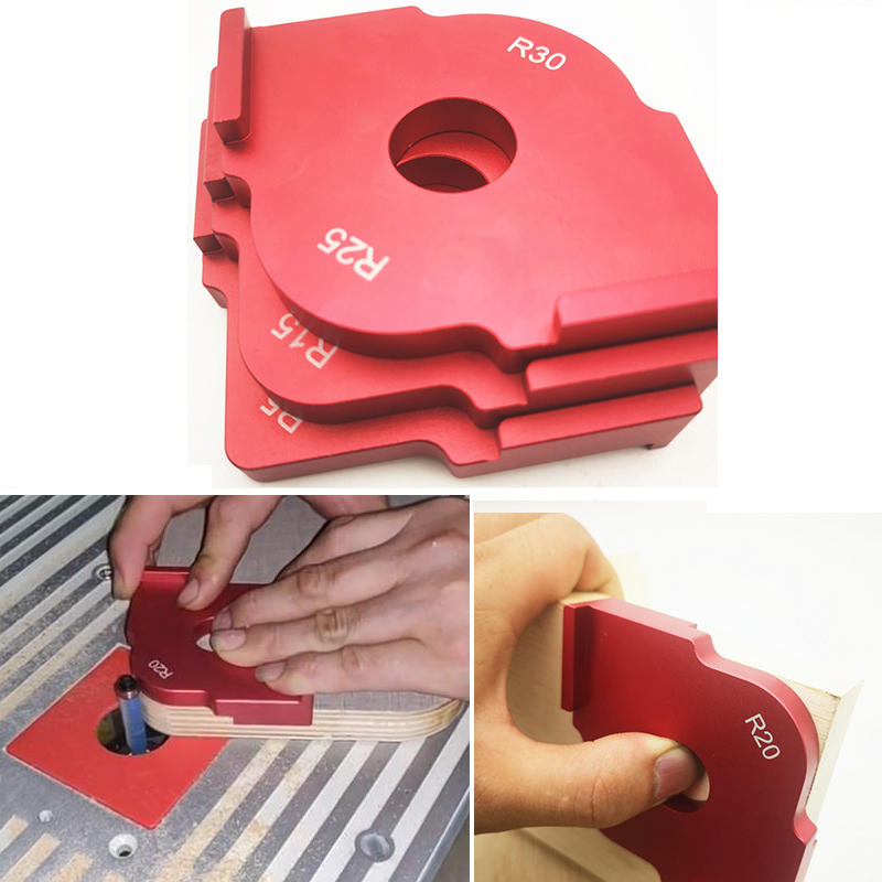Quick-Jig Router Table Bit Corner Jig Templates Woodworking Engraving Machine Locator For Engraving And Router Machine