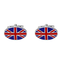 high quality mens shirt cuff button, brand new classic British flag cufflinks, French wedding buttons.