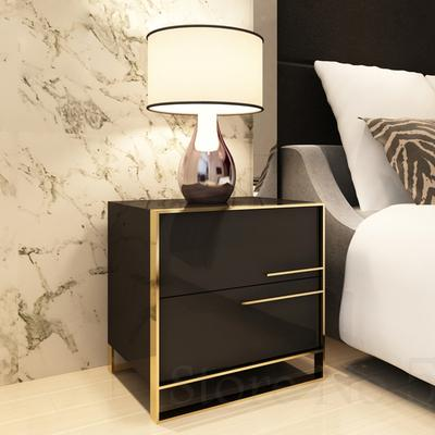 Simple Modern Bedside Table Light Luxury Nordic Storage Paint Cabinet Ins Bedroom Storage Simple Bedside Cabinet
