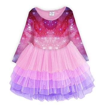 Vikita Gadis Payet Gaun Anak Gaun untuk Gadis Panjang Lengan Princess Tutu Gaun Anak Desain Hati Berpayet Pesta Vestidos