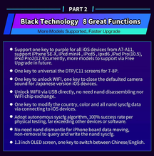JC DFU B-BOX For ip 7 7p 8 8p X One-Click Unpack WiFi LCD Screen DTP/C11 Read And Write The Underlying Data Of The Hard Disk