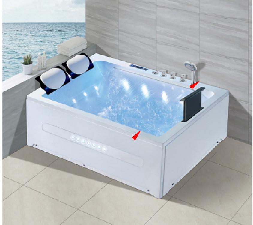 Banheira de hidromassagem acrílica da fibra de vidro do redemoinho de 1700mm tv surf massagem ns3101-0