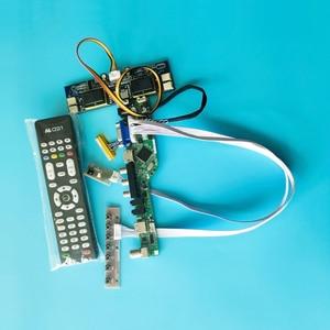 Tela 4ccfl lcd placa controlador universal kit diy vga + av + usb 1280*1024 ajuste m190e1/m190e2/m190e3/m190e5 lvds 30pin