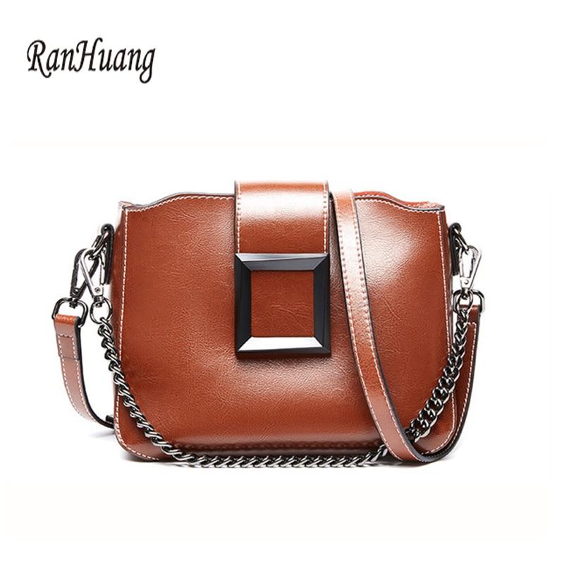 New 2019 Fashion Women's Genuine Leather Handbags Luxury Handbags Ladies Small Shoulder Bags Vintage Messenger Bags Cow Leather