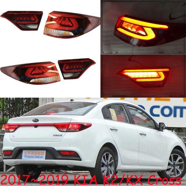1pcs רכב bupmer טאיליט עבור Kia K2 KX צלב אחורי אור ריו בלם 2017 ~ 2019LED רכב אביזרי taillamp עבור KX צלב אחורי אור