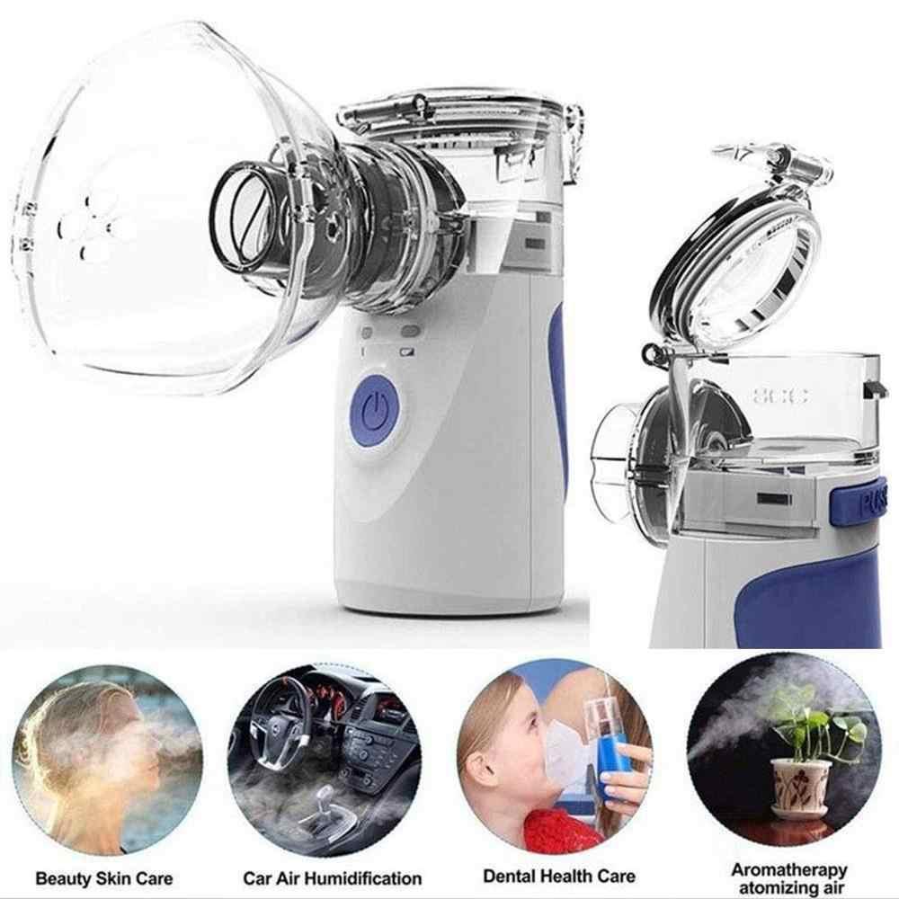 Портативный Бесшумный ультразвуковой ингалятор, перезаряжаемый медицинский паровой распылитель, Мини Ручной Ингалятор, небулайзер, забота о здоровье