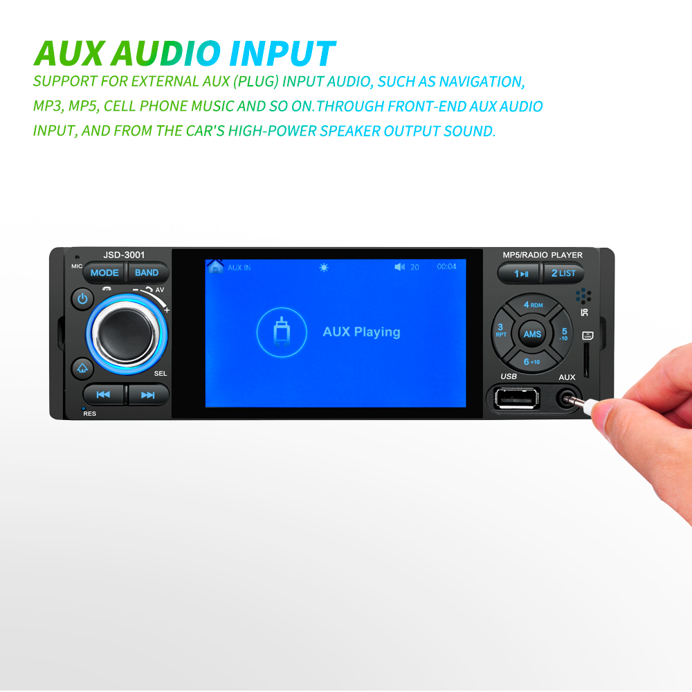 Image 3 - LTBFM Autoradio 1 Din Car Radio JSD 3001 4.1 MP5 Car Player Touch Screen Car Stereo Bluetooth 1Din Auto Radio Camera Mirror Link-in Car Radios from Automobiles & Motorcycles
