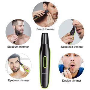 Image 3 - 4in1 전기 머리 트리머 남자를위한 수염 트리머 얼굴 눈썹 수염 머리 절단기 기계 이발 콧수염 정리 세트 usb