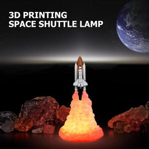 Image 2 - 3D Print Space Shuttle Lamp Rechargeable Bedroom Bedside Night Light Room Decor For Space Lovers Moon Lamp