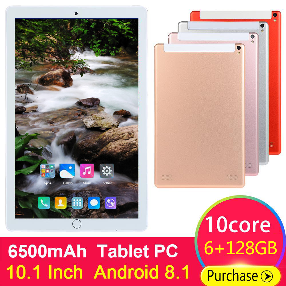 2020 Tablet 10.1 Inch LTE 3G 4G Phone Call Tablets 10 Core Android 8.0 Tablet Pc 6G+128G WiFi GPS Bluetooth Dual SIM IPS Screen