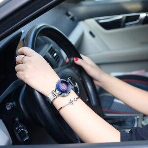 Image 4 - אופנה נשים חכם שעון עמיד למים לב שיעור לחץ דם צג Smartwatch מתנה לנשים שעון צמיד