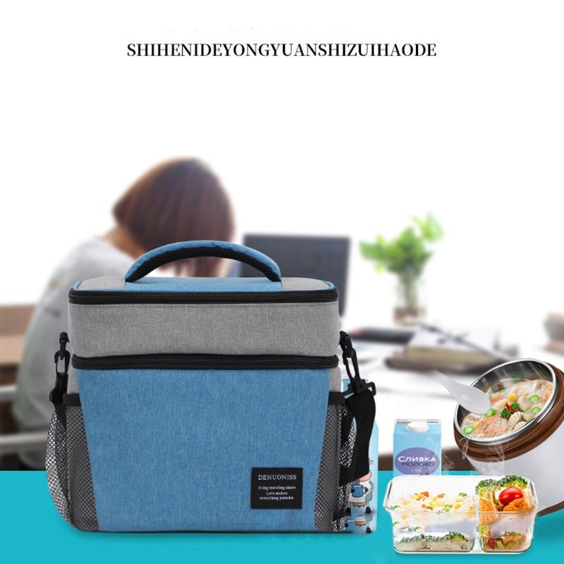 Oxford tissu créativité Double couche sac isotherme sacs à main livraison de nourriture sac à dos ménage pique-nique marchandises cuisine outils accessoires