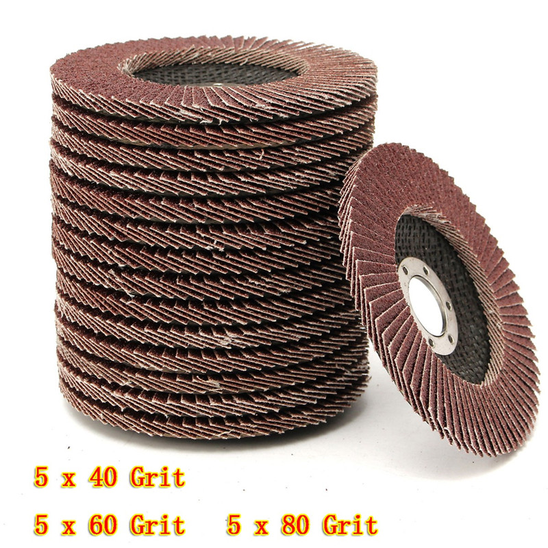 15Pcs/Set Flap Discs 115mm Sanding Discs 40 60 80 Grit Grinding Wheels Discs Angle Grinder Jewerly Polishing Tools