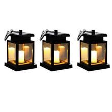 Outdoor-Lanterns, Hanging Solar Lights, Solar Lanterns, Bright Led Lighting for Yard Garden Decorations (3-Packs)
