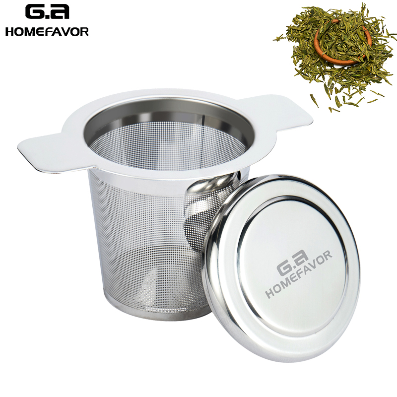 Tea Infuser Strainer Stainless Steel Mesh Teapot Brand Tea Leaf Spice Filter Basket Reusable Kitchen Teaware Accessories