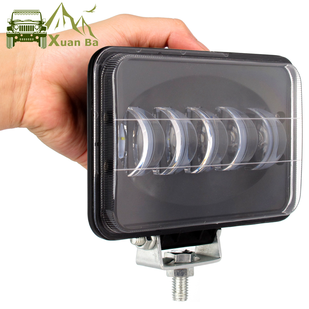 6D Lens 6 Inch Square Led Work Light For Trailer 4WD ATV SUV UTV Trucks 4x4 Off Road Tractor Working Driving Lights Headlight