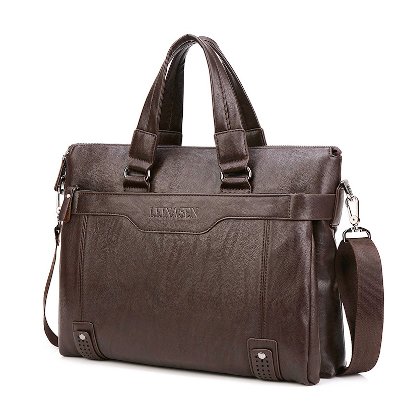 2020 Men's Leather Briefcase Made Of Pu14 Inch Men's Shoulder Bag For Men Shoulder Bag Business Briefcase Bag Laptop