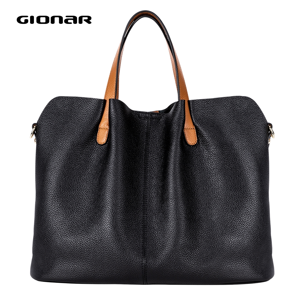 GIONAR RFID Premium Handcrafted Cow Top Layer Leather Hobo Handbags Designer Crossbody Shoulder Purse Large Tote Bag For Women