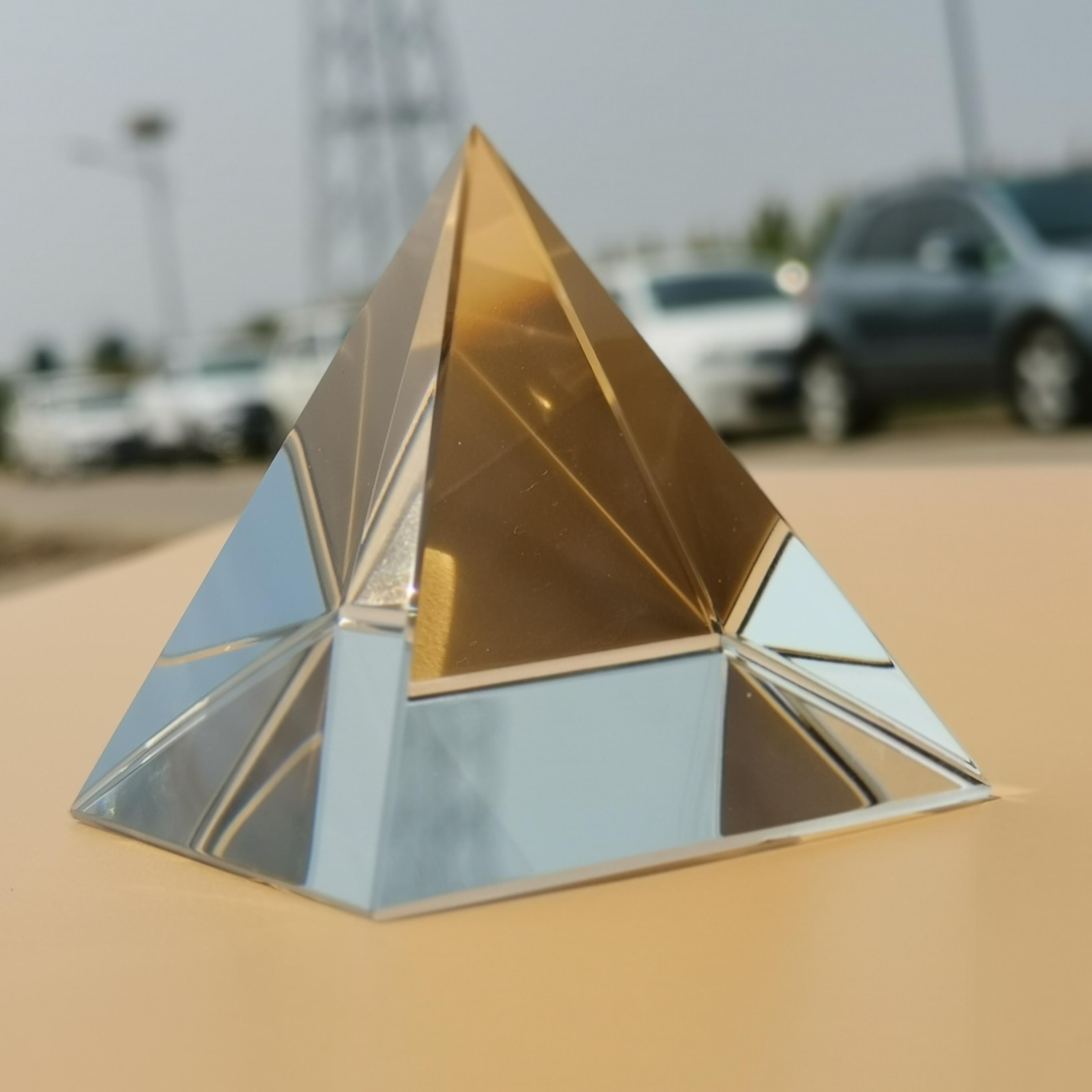 Optical Prism K9 Glass Pyramid Rainbow Crystal Photography Triangle Light Guide Science Optics Teaching SpectrumTools
