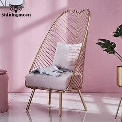 W połowie wieku nowoczesna powieść metalowa stalowa fotel wypoczynkowy żelazne krzesło druciane stołki do jadalni meble do salonu kawowego 3 kolory