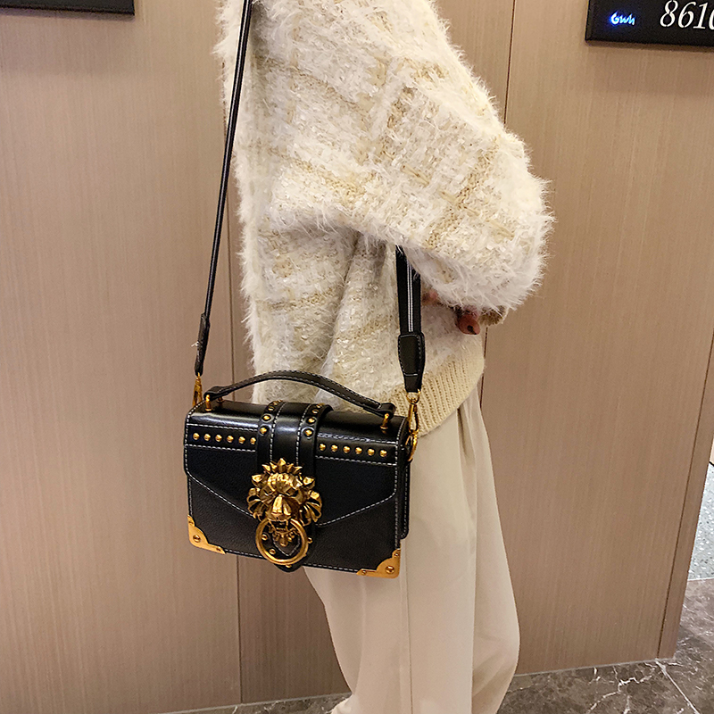 H6dbfef8726374e828dd1caf599221f92n - Female Fashion Handbags Popular Girls Crossbody Bags Totes Woman Metal Lion Head  Shoulder Purse Mini Square Messenger Bag