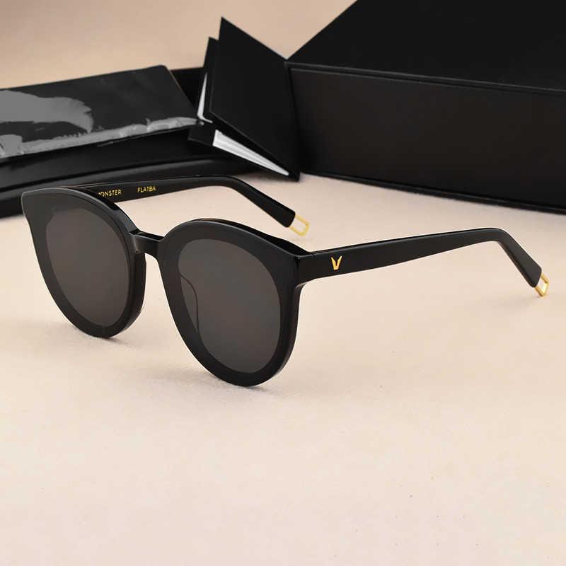 Óculos de sol luxuoso feminino de 2020, estilo olho de gato, vintage, da coréia