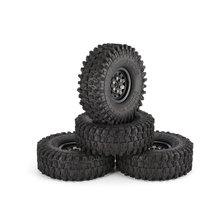 2019 4Pcs 1.9 Inch 120mm Rubber Tires Tire with Metal Wheel Rim Set for 1/10 Traxxas TRX-4 SCX10 RC4 D90 RC Crawler Car Parts