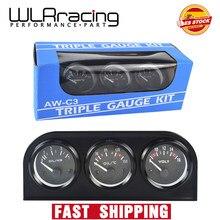 Triple Kit Electrial de WLR RACING - 52mm (voltímetro + medidor de temperatura de aceite + medidor de presión de aceite) Sensor de temperatura o medidor de temperatura del agua
