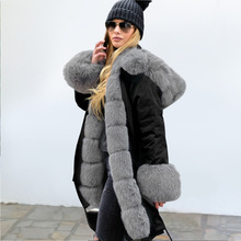 2019 New Parka Womens Winter Coats Womans Long Casual Fur Hooded Jackets Warm Snosuit Parkas Female Overcoat Coat Free Shipping