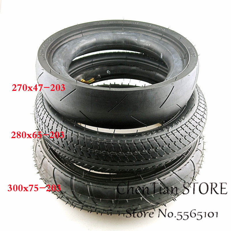 Freekids / Babyruler parts <font><b>tire</b></font> 270x47-203 tyre and inner tube fit for Baby trolley, child tricycle, E-bike,electric folding car image