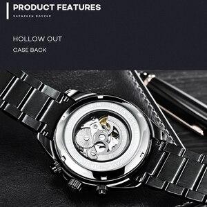 Image 3 - BOYZHE nieuwe holle mechanische horloge met maan fase functie waterdichte lichtgevende mannen automatische horloges luxe merk