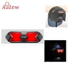 Universal Motorcycle Helmet Taillight Helmet Sticker Motorcr