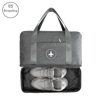 Fashion Unisex Dry And Wet Separation Bag Large Capacity Travel Bags Waterproof Clothes Shoes Storage Bag Handbag Beach Package brivilastravel bag waterproof large capacity multifunction dry wet separation storage handbag bag travel duffle bag high qualit