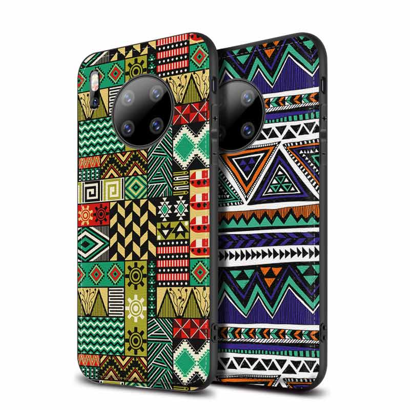 PU Leather Embossed Shockproof Soft Back Cover For Huawei Mate 30 Pro 20 20X 10 9 Pro Mate30 Cases Funda Caphina With Hardstrap