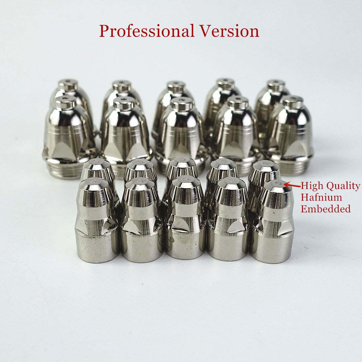 20pcs P80 Plasma Cutting Torch Consumable Cutting 60A 80A 100A P80 CNC Plasma Torch Tip Electrode Nozzle