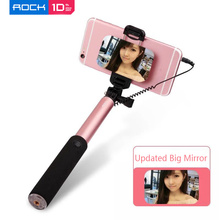 Rock Universal Extendable Selfie Stick Holder Monopod Wired Cable for Samsung S7 Edge Android Phones Drop Shipping 셀카봉